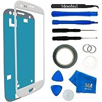 MMOBIEL Kit de Reemplazo de Pantalla Táctil para Samsung Galaxy S3 Mini i8190 i8195 Series (Blanco) incluye Kit de Herramientas de 11 piezas con etiqueta precortada / Limpiador de microfibra / alambre Metálico