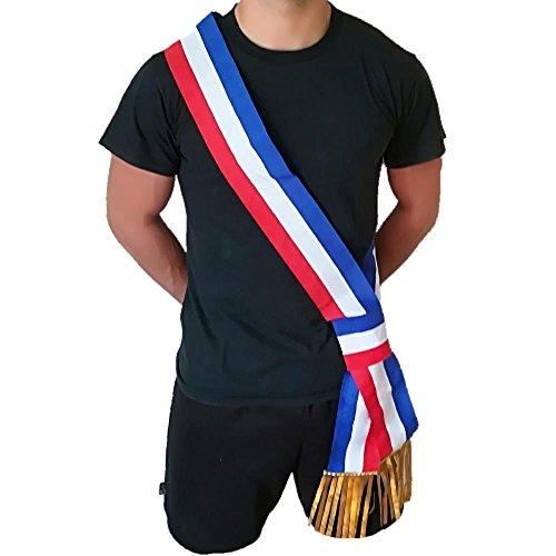 BrolloGroup Französischer Bürgermeister Band Weiß Rot Blau Made in Italy PS 04592