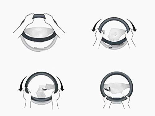 SWCAAE AutoLenkradabdeckung PU Leder 38CM Anti-Rutsch-Autoteile für VIZIV-2 Hybrid Exiga Tribeca G4e B9 R1, fxp-schwarz Tribeca Ring