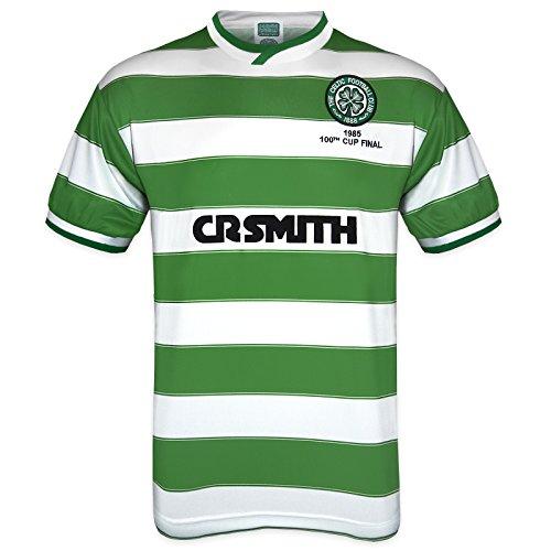 28e65e0f027 Celtic FC Official Football Gift Mens 1985 Cup Final Retro Kit Shirt Large  – Retro Football Shirts