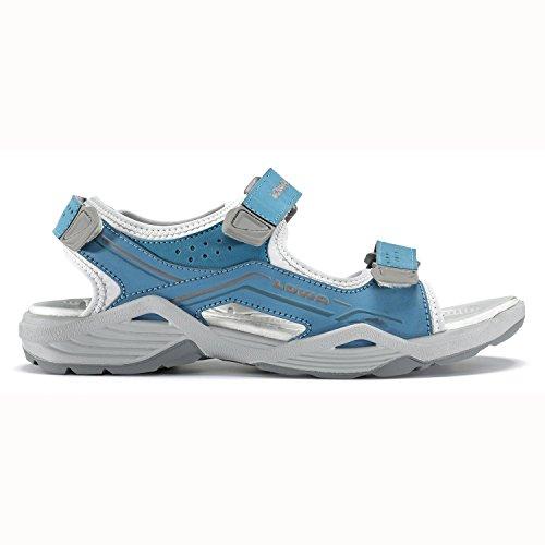 Lowa Duralto Trail Damen-scarpe da ginnastica (melanzana/grigio) turchese/grigio
