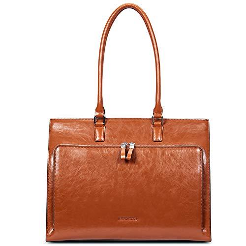 BOSTANTEN Leder Aktentaschen Damen 15 16 Zoll Laptoptaschen Frauen Businesstasche Schultertasche