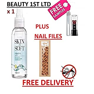 Avon SKIN SO SOFT Mosquito Insect Repellent Original Dry Oil Body Spray with Jojoba with FREE LIPSTICK & PERFUME SAMPLE - GET IT FIRST FROM BEAUTY 1ST