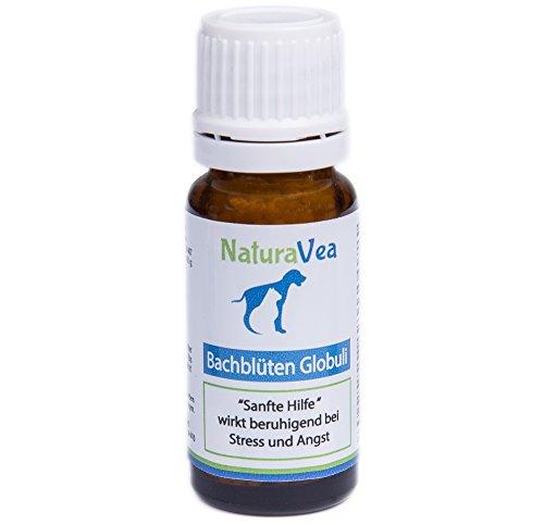 NaturaVea Bachblüten Globuli Hunde und Katzen, wirkt Beruhigend, Anti Stress