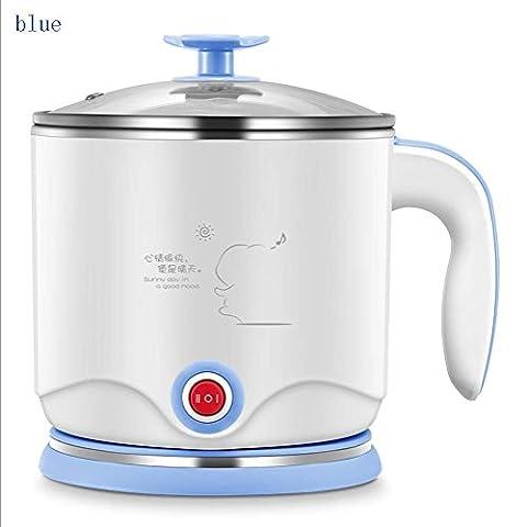 LIUYU Portable 1.2L Mini bouilloire électrique pour bouilloire pour la soupe de cuisine Porridge et nourriture à la vapeur (Bleu),Bleu
