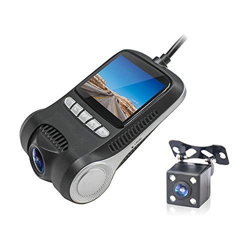 YUnnuopromi 2 Zoll LCD HD 1080p Auto-Fahrzeug DVR Cam-Kamera WiFi Night Vision Video Rekorder Schwarz