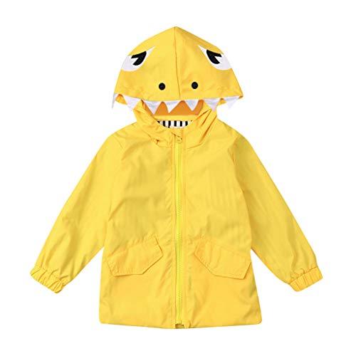Zeichen Cartoon Kostüm Cute - Kids Junge Mädchen Cartoon-Dinosaurier Regenmantel Kinder Regenjacke Regen Regenponcho Regencape Regenbekleidung Cute Unisex Windbreaker Windjacke Kapuzenjacke Jacke Outwear