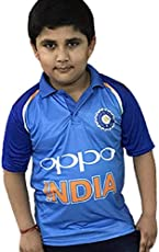 Step Shoes India Cricket Team t Shirts for Kids_Cricket Jersey