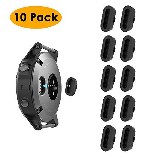 KIMILAR 10 Pack Silicone Dust Plug compatible with Garmin Vivoactive 3 /  Vivoactive 3 Music/Vivoactive 3 Trainer, Garmin Fenix 5/5 Plus / 5S / 5S  Plus