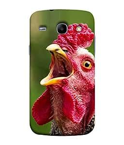 PrintVisa Designer Back Case Cover for Samsung Galaxy Core I8260 :: Samsung Galaxy Core Duos I8262 (Hen Birds Cock A Doodle Do )