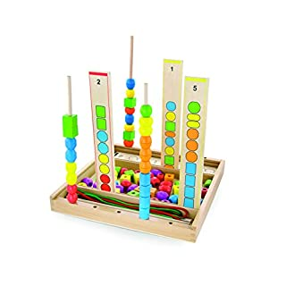 Andreu Toys 34x 33x 4,5cm Einfädeln Formen Spiel (92, Mehrfarbig)