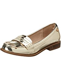 Xti Gold Mirror Pu Ladies Shoes ., Mocassins (loafers) femme