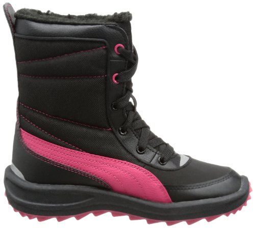 Puma Cooled Boot Jr 304625 Unisex-Kinder Stiefel Schwarz (black-virtual pink 02)