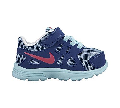 Nike Revolution 2 TDV, Baskets premiers pas mixte bébé Multicolore - Azul / Rosa / Blanco (Copa / Vivid Pink-Insgn Bl-White)