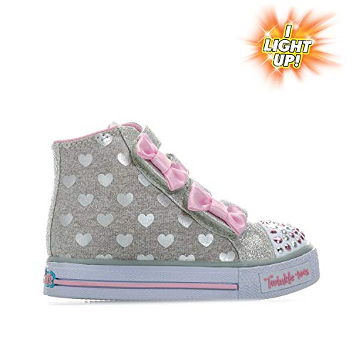 b4116ca49ce03 Skechers Baskets Doodle Days Twinkle Toes Gris Fille