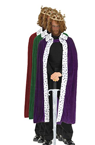 Kostüm Nashville - ADULT Deluxe Kings Robes Nativity 3 Wise Men Christmas Cape Crown Fancy Dress[All 3 Colours]
