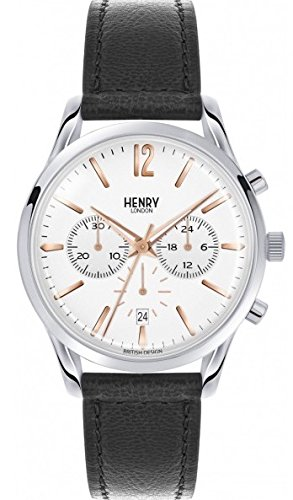 Henry London Unisex Adult Analogue Classic Quartz Watch with Leather Strap HL39-CS-0009