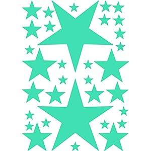 33 Sterne Aufkleber Wandtattoo Kinderzimmer Fenster Mädchen Jungen