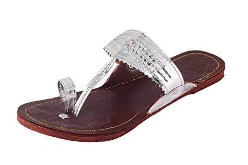 Tamanna Kolhapuri Silver Color Chappal For Women  available at amazon for Rs.208