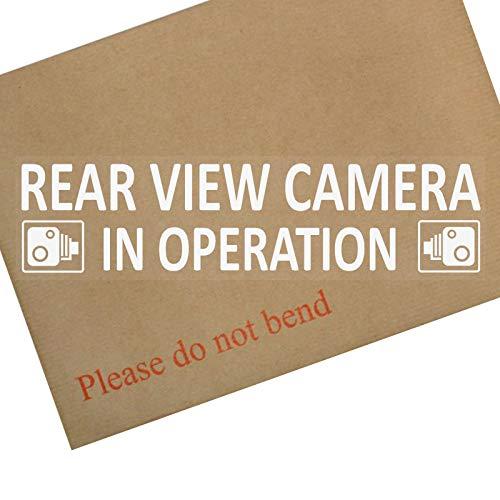 2x intern Fenster 200x 50mm-rear View Kamera in Betrieb Warnung, stickers-white auf clear--CCTV sign-van, LKW, LKW, Taxi, Bus, Mini Cab, Minicab Sicherheit und security-go Pro, Dashcam