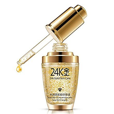 Anti-Falten-Essenz-Creme, BIOAQUA Make-up 24K Gold Essenz Anti-Falten-Collagen Befeuchten Hyaluronsäure Flüssigkeit (30 ml)