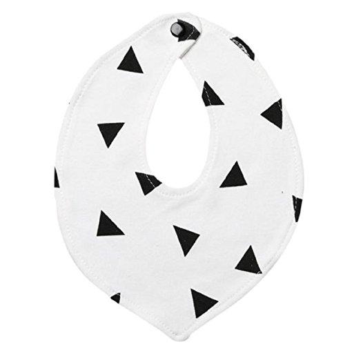 Baberos,Koly Bebés y Niños algodón baberos del Bandana Alimentación toalla de la saliva del regate Triángulo impermeable (B)