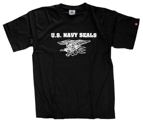 Schwarz Us Navy Seal (Shirtzshop Herren T-Shirt US Navy Seals II, Schwarz, XXL, ss-shop-seals2-t)
