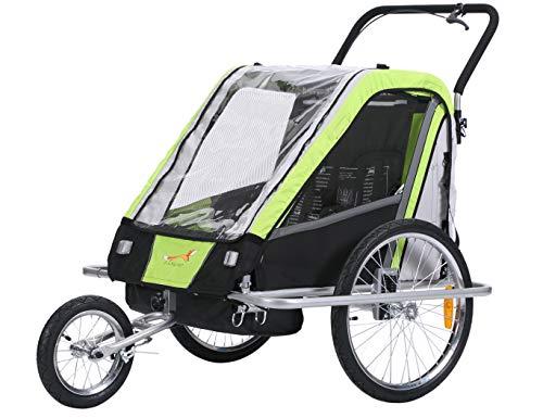 Fiximaster multifunktion 2 in 1 Fahrradanhänger/Jogger Babywagen Transportwagen Handwagen Grün BT503 NEU