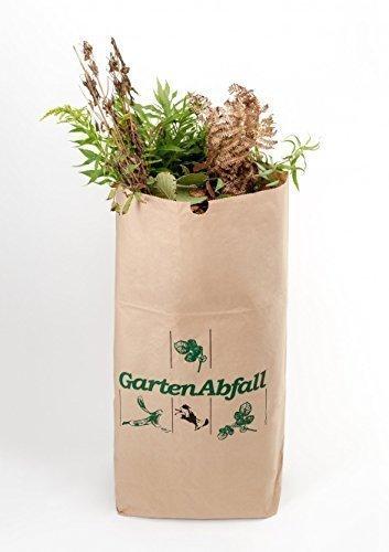 BIOMAT® Sac à déchets de jardin en papier kraft (2-couches, 3 pièces, 120 Litre) 70 x 95 x 22 cm