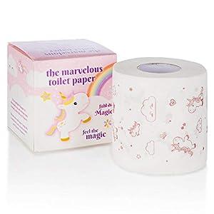 Goods & Gadgets Einhorn Toilettenpapier – niedliches Klopapier mit Popcorn Duft-Aroma