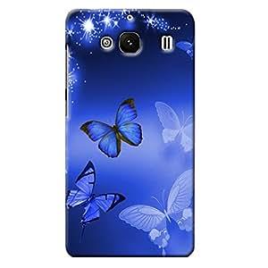 info for 49607 b2e9c Clapcart Redmi 2S Prime Designer Printed Back Cover for Redmi 2, Redmi 2  Prime and Redmi 2S- Blue Color(Butterfly)