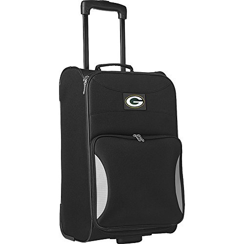 nfl-green-bay-packers-steadfast-upright-carry-on-luggage-21-inch-black-by-denco