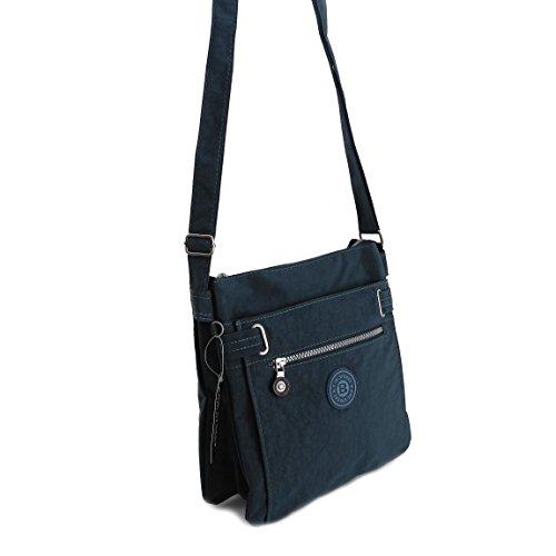 Bag Street borsa a tracolla borsa a tracolla borsa per il tempo libero wandertasche Nylon Bodybag–präsentiert von ZMOKA® in diversi stili Colori, nero (nero) - 0 Blau