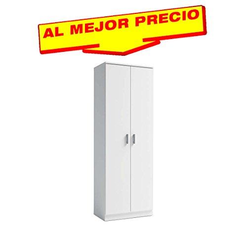 ZAPATERO ARMARIO DE 2 PUERTAS CON 6 COMPARTIMENTOS COLOR BLANCO, DIMENSIONES 60,2x170,5x35cm. OFERTAS HOGAR ¡AL MEJOR PRECIO!