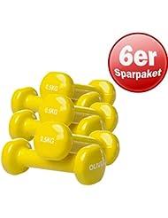 Oliver vinylhantel paire d'haltères de force musculaire 0,5 kg (gelb) 3 Paar