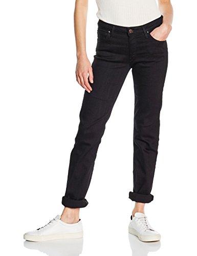 Lee Damen, Straight Leg, Jeans, Marion, GR. W33/L34 (Herstellergröße:33/33), Schwarz (Black Rinse)