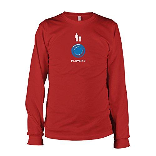 TEXLAB - Player 2 - Langarm T-Shirt Rot