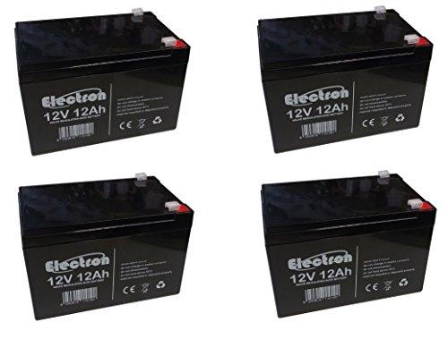 Kit 4x Batterie au plomb cyclique 12V 12Ah Rechargeable pour vélo électrique 48V 12Ah