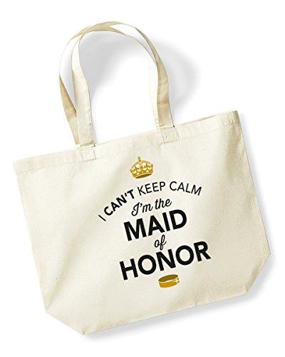 Maid of Honor, Maid of Honor Tasche, Tasche, Maid of Honor Andenken, Hochzeit Geschenk, Geschenk, Hen Party, Hen Party Tasche, Hen Do Geschenke, Ideen für Maid of Honor, Andenken, Textil, natur, L