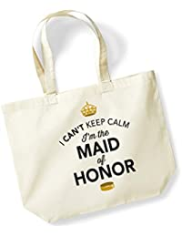Maid Of Honor, Maid Of Honor Bag, Tote Bag, Maid Of Honor Keepsake, Wedding Gift, Present, Hen Party, Hen Party Bag, Hen Do Gifts, Ideas For Maid Of Honor, Keepsake (Natural)