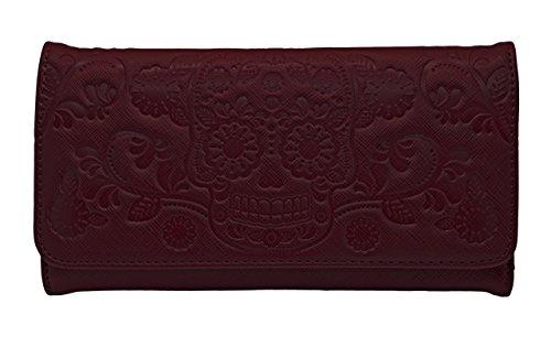 loungefly-plum-embossed-skull-wallet