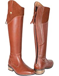 Toggi Langley Handmade Long Leather Country Boot Cedar Brown Size 37