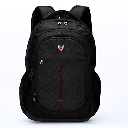 ALS Männer und Frauen Business Laptop Rucksack Wasserdicht Shockproof Computer Tasche Wandern Travel Campus College School Bag Daypack für Macbook, Tabletten und Notizbuch (Schwarz passt 16-Zoll-Laptop)