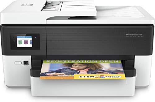 hp officejet pro 7720, stampante multifunzione a getto di inchiostro per grandi formati a3, scanner e, fotocopiatrice (formato legal), fax , stampa direct wireless, schermo lcd con touchscreen, bianco