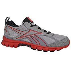 Reebok Men's Running Shoes Rincon Trail Running Sports Shoes - Gray / Red, Gray, Red