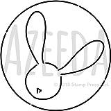 Azeeda A3 'Häschen Kreis' Wandschablone / Vorlage (WS00014475)