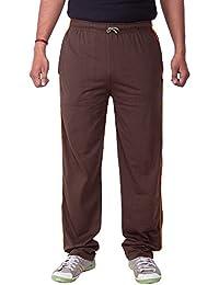 Lingo Men's Hosiery Track Pants Pyjama - Chocolate Brown