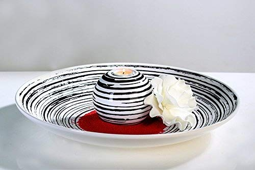 Bol rings-noir/blanc-hauteur : 7 cm-diamètre : 44 cm