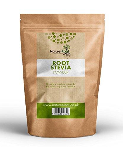 Natures Root Premium Grünes Stevia Blattpluver 250g - Süßungsmittelersatz | Gesund & Natürlich | Null Kalorien -