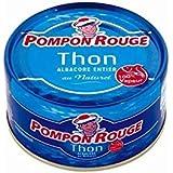 Pompon rouge thon albacore au naturel 100% vapeur 130g - Prix Unitaire - Livraison Gratuit Sous 3 Jours